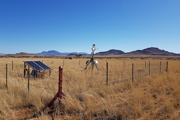 One of the Eddy Covariance Flux Tower sites in Karoo, Eastern Cape, South Africa